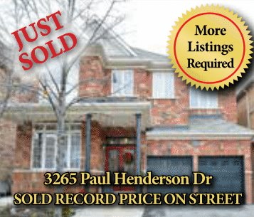Sold Record Price on Street